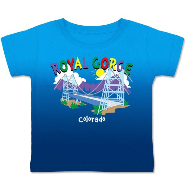 TODDLER TEE WHIMSY ROYAL GORGE-LIGHT BLUE/NAVY