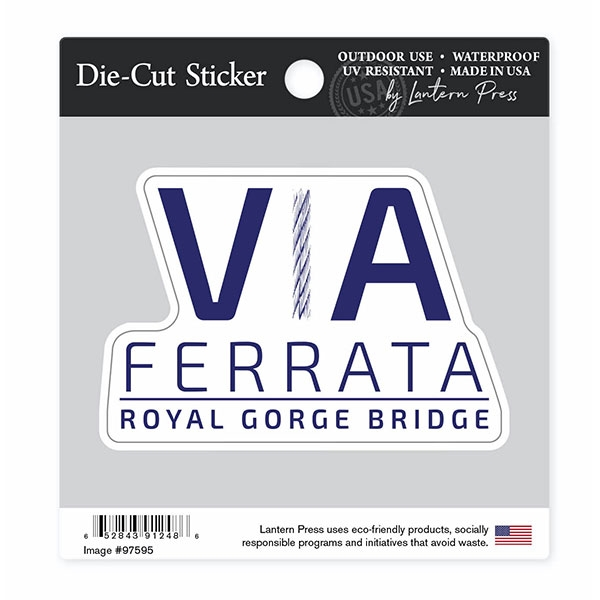 VIA FERRATA TEXT STICKER LARGE