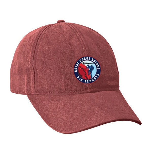 ADULT BASEBALL HAT VIA FERRATA-BARN RED