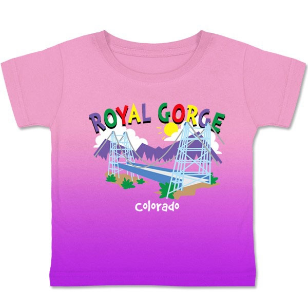 TODDLER TEE WHIMSY ROYAL GORGE-PINK/PURPLE