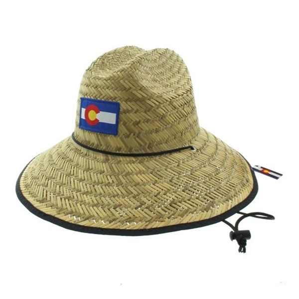 COLORADO FLAG STRAW HAT