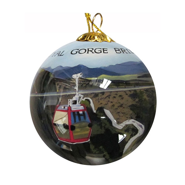 ROYAL GORGE BRIDGE GLASS ORNAMENT