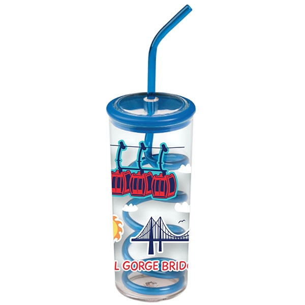ROYAL GORGE BRIDGE KIDS TWISTY STRAW CUP