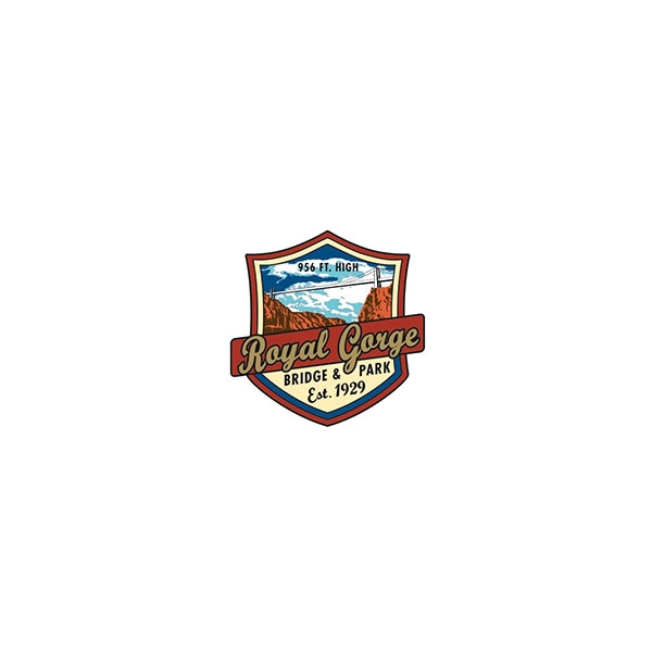 ROYAL GORGE BRIDGE BADGE LAPEL PIN