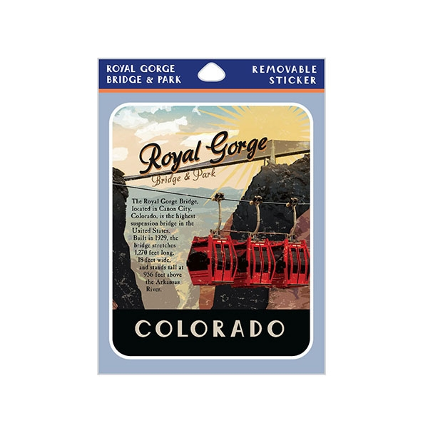 VINTAGE POSTER ROYAL GORGE BRIDGE STICKER