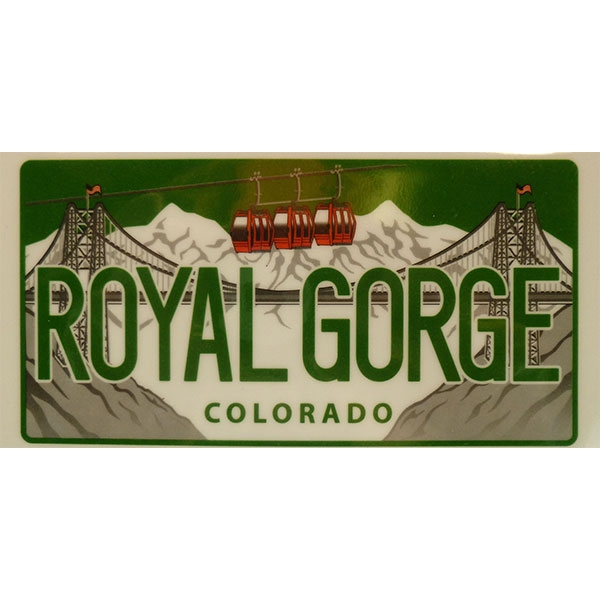 COLORADO LICENSE PLATE BUMPER STICKER
