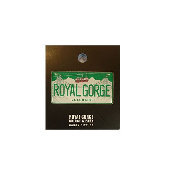 COLORADO LICENSE PLATE LAPEL PIN