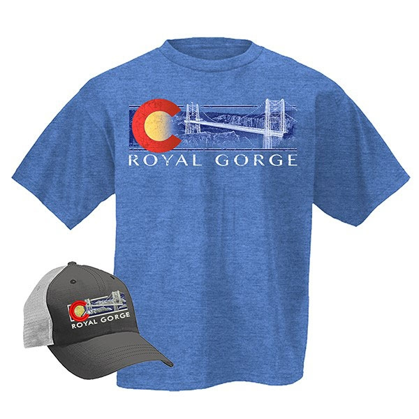 ADULT HAT/TEE COMBO OMBRE ROYAL GORGE BIRDGE-ROYAL HEATHER/CHARCOAL