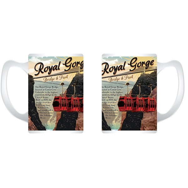 VINTAGE POSTER ROYAL GORGE BRIDGE MUG