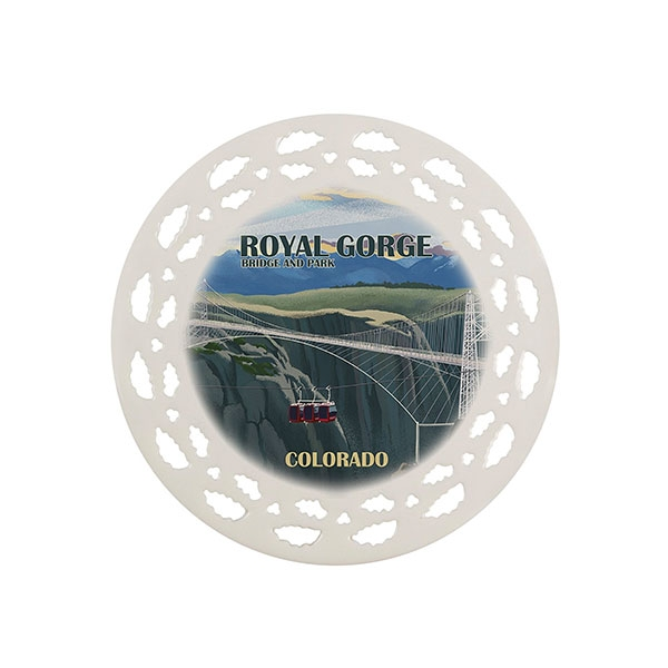 ROYAL GORGE ART PRINT PORCELAIN ORNAMENT