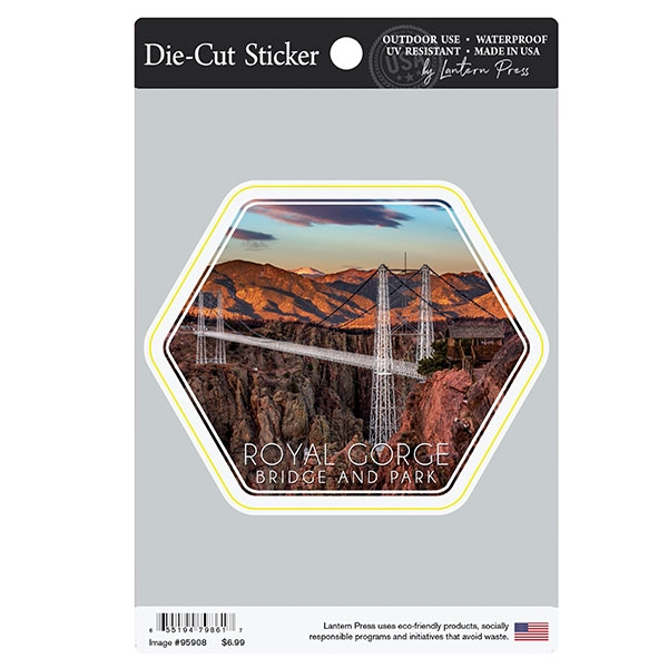 BRIDGE AND MOUNTAINS DIE CUT STICKER LARGE