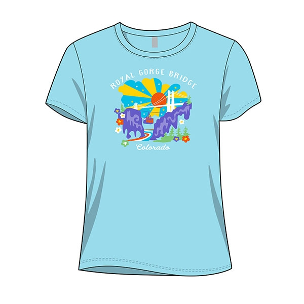 SHORT SLEEVE YOUTH GIRLS TEE RISE AND SHINE-GLACIER